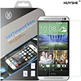 PThink® Premium Tempered Glass Screen Protector for HTC One M8 / HTC One M8S with 9H Hardness/Anti-scratch/Fingerprint resistant (HTC One M8)