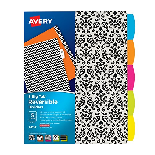 Avery Reversible Dividers Assorted 24914