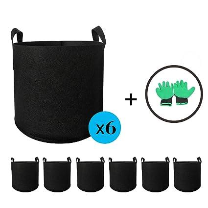 Amazon.com: Brorient - 6 bolsas de cultivo de plantas + 1 ...