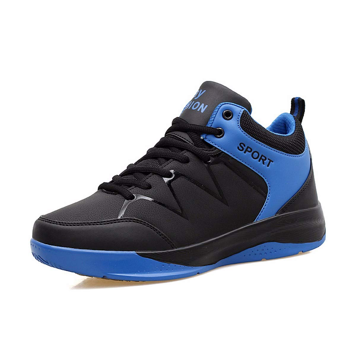 KMJBS-Men's Basketball Schuhes Summer Students Outdoor Men's Schuhes High Band Blau 39