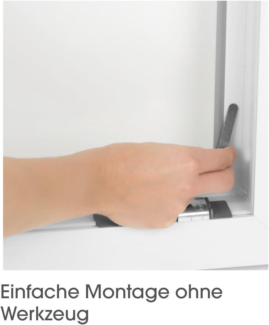 Easymaxx fenêtre Moustiquaire Magnétique Fixation 150x130cm noir Moustiquaire