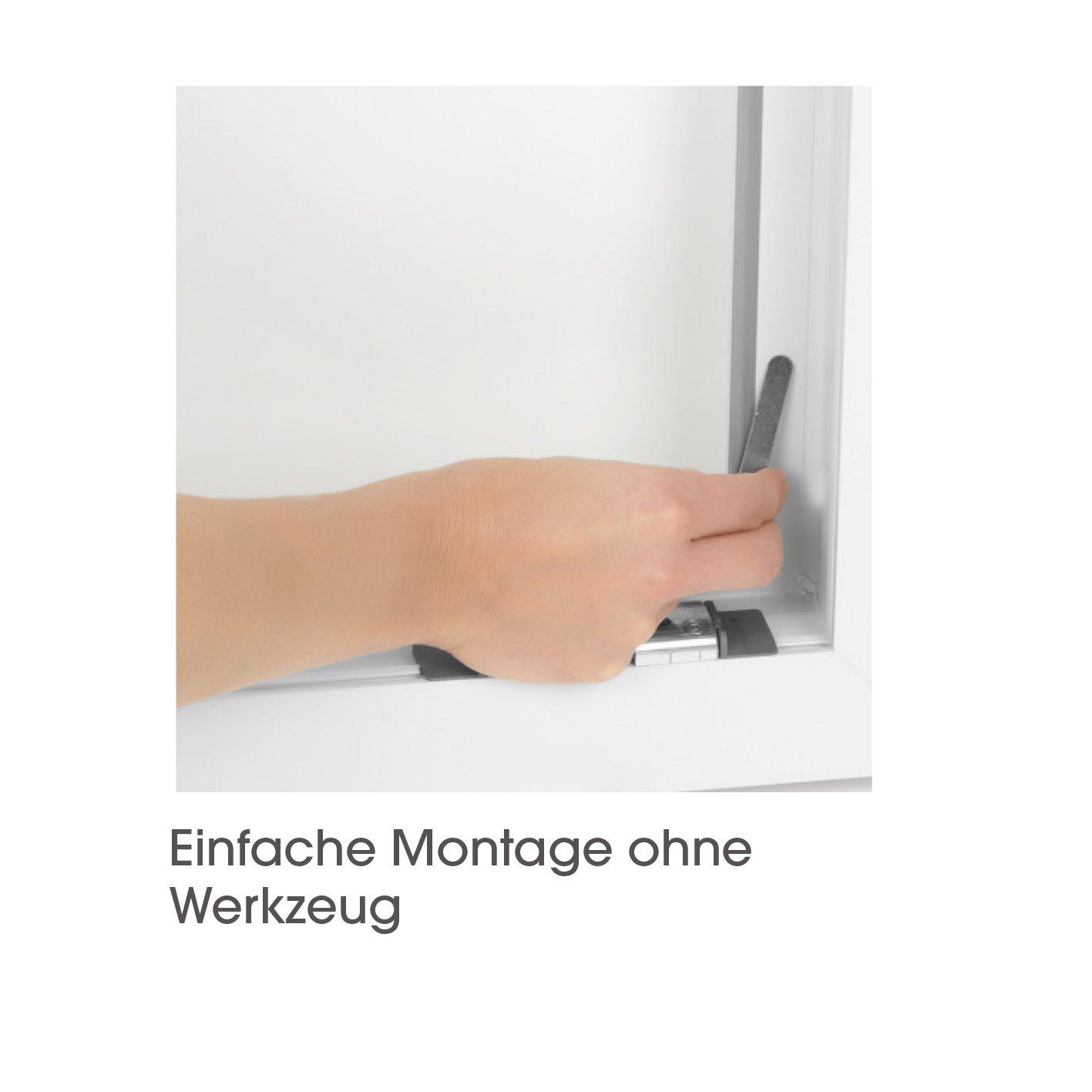 grille anti-insectes Noir Easymaxx Moustiquaire de fen/être avec fixation magn/étique 150/x 130/cm