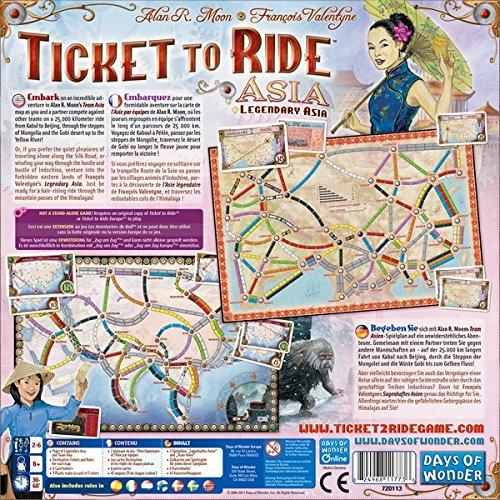 Ticket To Ride Asia Map.Ticket To Ride Asia Map Collection Volume 1 Ebay