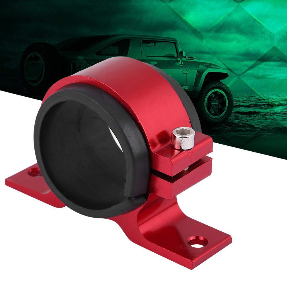 Qiilu Support de montage de pompe /à essence de voiture de 50mm rouge alliage daluminium de berceau de bride de filtre simple