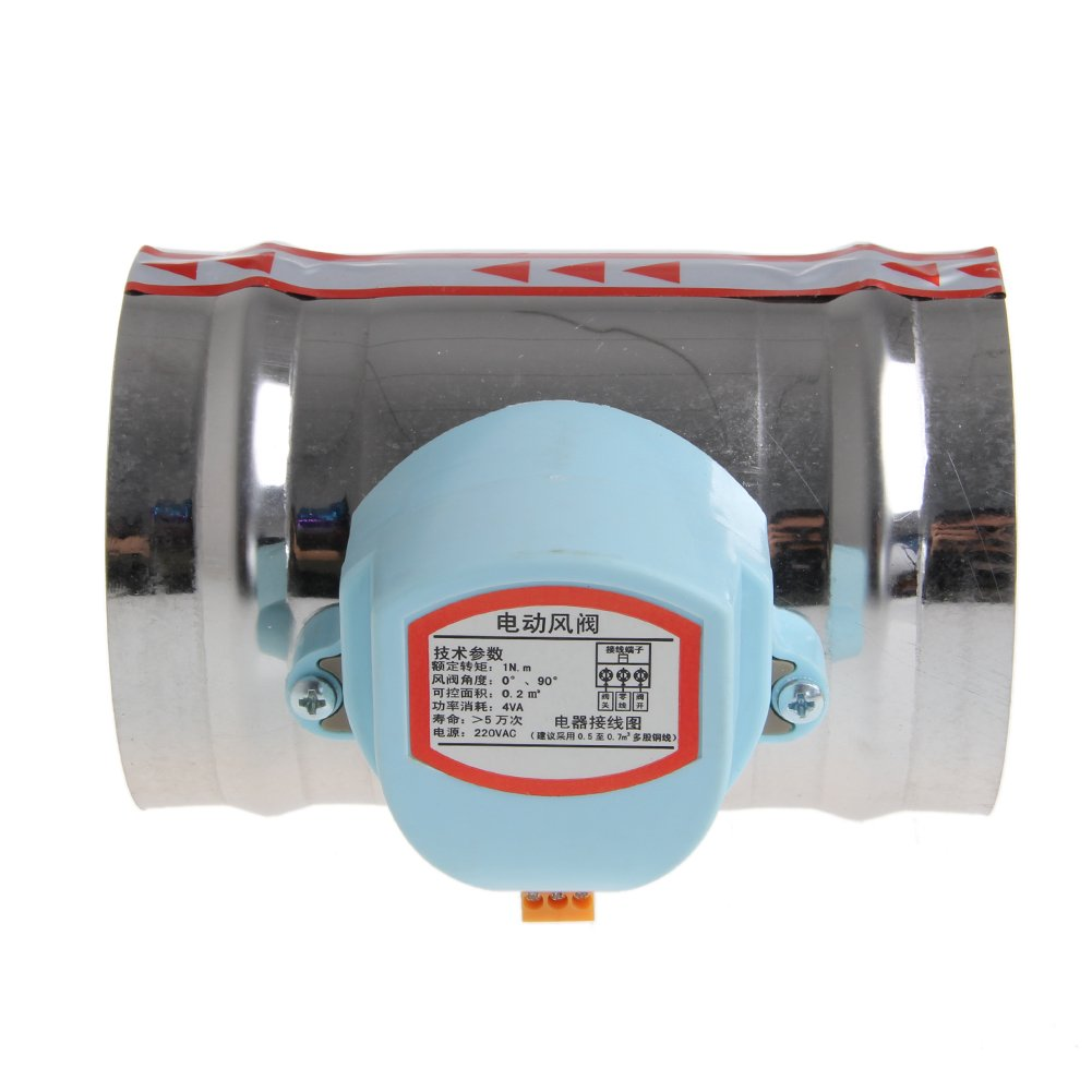 Kangnice 4'' 220V AC Stainless Steel Electric Solenoid Valve Damper Tight Water Steam