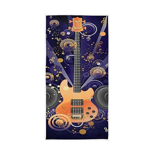 QMIN Toalla de Mano Guitarra, diseño de Notas Musicales, Toalla ...