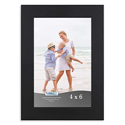 Amazon.com - Icona Bay 4 x 6 Picture Frame (Black) Photo Frames for ...