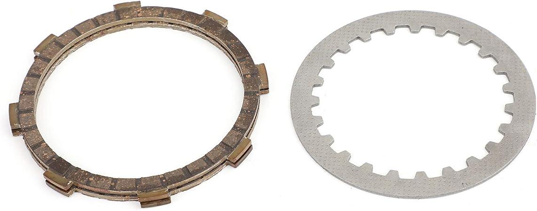 Artudatech Motorrad-Kupplungsplatten-Set Bremsscheiben Stahl und Reibplatten f/ür Yamaha DT RD RX YSR YB MR QA QB 50R 1974-1999