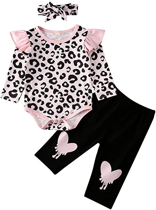 Newborn Baby Girl Boy My 1st Valentine/'s Day Outfits Tops Romper+Pants Hat Set