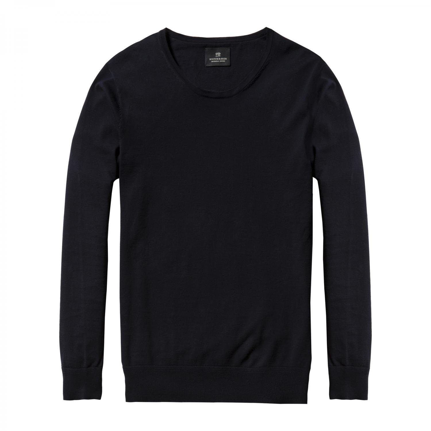 Scotch & Soda Herren Pullover Classic Crew Neck 132490