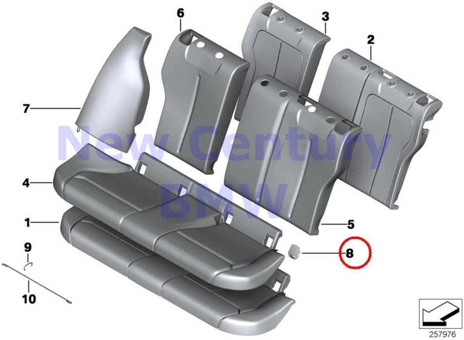 52207319686 Black Brand New Genuine BMW Rear Seat Isofix Cover