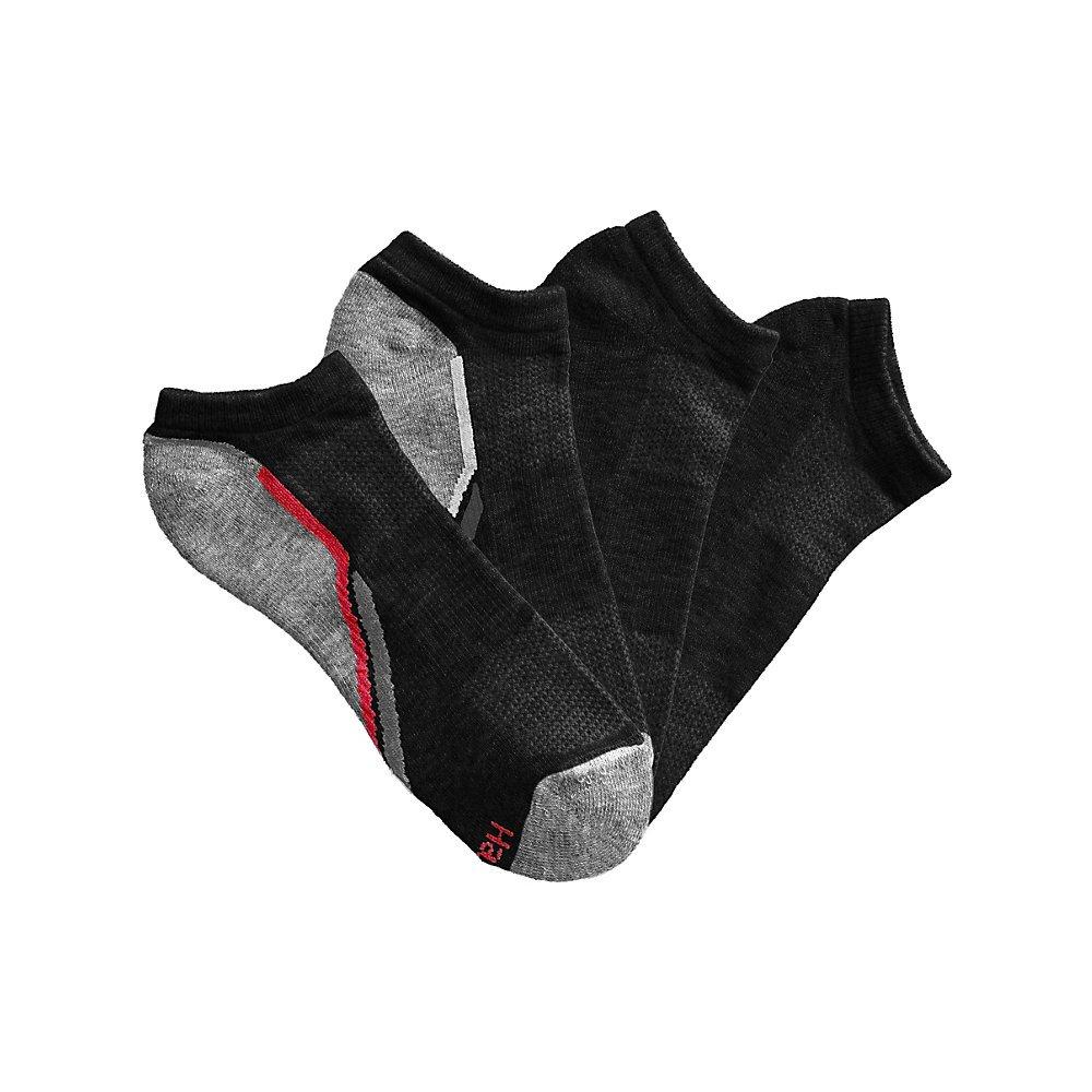 Hanes Men's X-Temp Arch Support Ventilation No-Show Socks 4-Pack