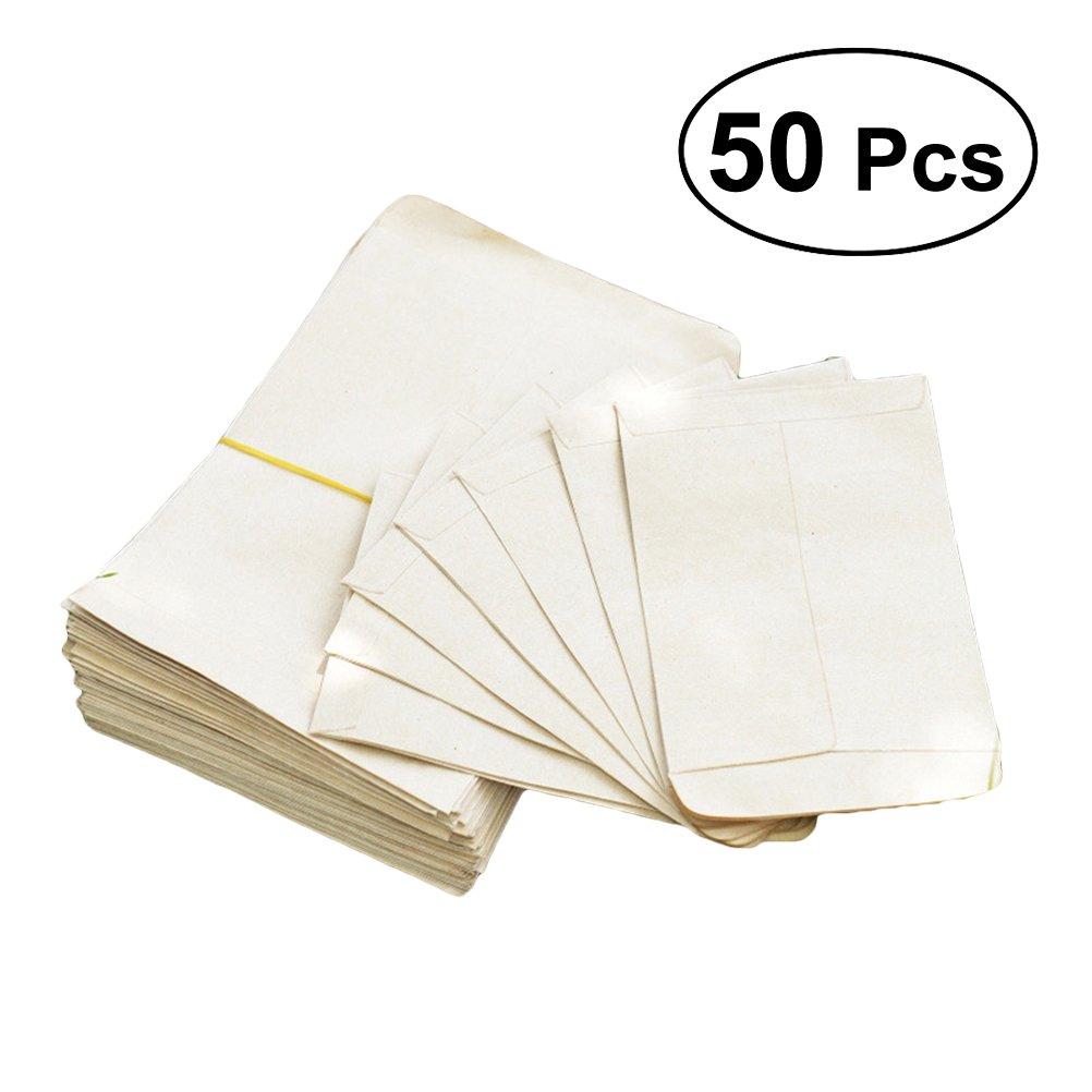 Yardwe 50Pcs Kraft Samen Umschläge Samen Papiertüten für Haus und Garten verwenden