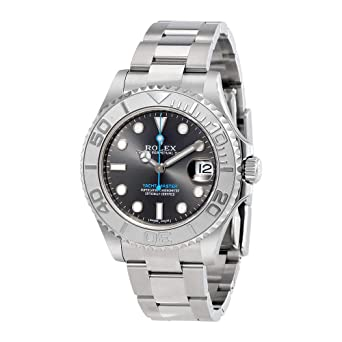 b640ed6c214 Image Unavailable. Image not available for. Color  Rolex Yacht-Master  Rhodium Dial Steel and Platinum Oyster Midsize Watch 268622RSO