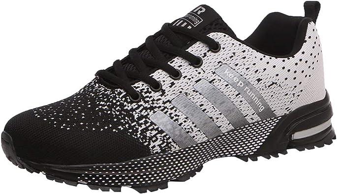 Zapatillas de Deporte Hombres Qimaoo Zapatos de Gimnasia para Caminar de Peso Ligero Zapatillas de Deporte Zapatos Deportivos para Hombre Athletic Cordones Air Cushion 3cm Running Sports Sneakers: Amazon.es: Zapatos y complementos