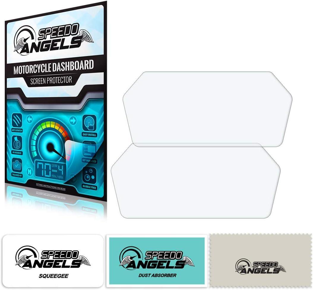 2 x Ultra Clear Speedo Angels SAMV72UC Dashboard Screen Protector for Mv Agusta Turismo Veloce 2015+