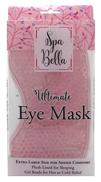 Spa Bella Ultimate Large Eye Mask, Pink Benzoyl Peroxide Topical Wash 10 Percent - 8 Oz, 2 Pack