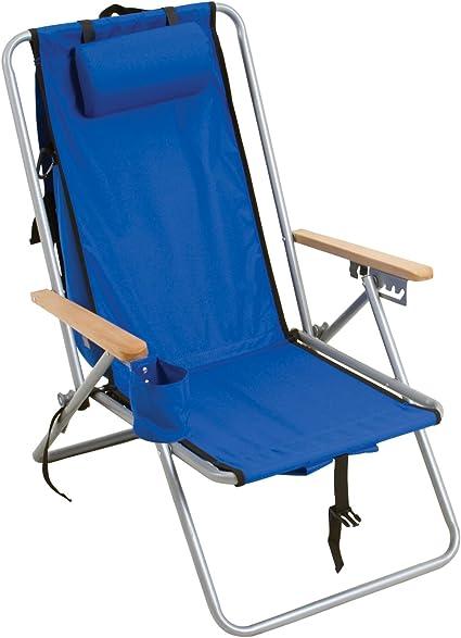 Amazon Com Rio Gear Original Steel Backpack Chair Royal Blue Sports Outdoors