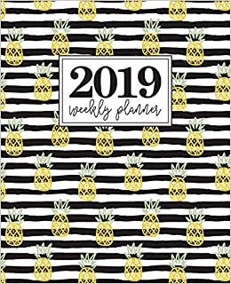 """Amazon.com: 2019 Weekly Planner: Portable Format 7.5""""x9.25 ..."""