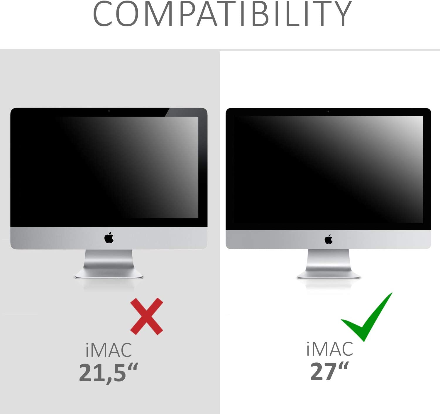 iMac Pro 27 kwmobile Monitor Cover Compatible with Apple iMac 27 Anti-Dust PC Monitor Screen Display Protector Black