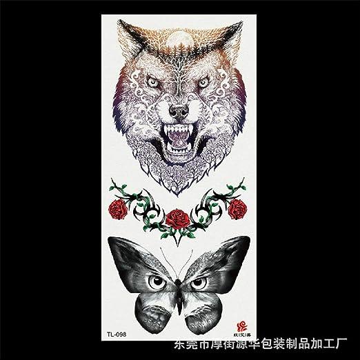 Handaxian 5pcs-Fox Tatuaje Pegatinas 3D Tatuaje Pegatinas Flores ...