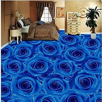 Sproud Custom Personality Blue Rose Living Room Bedroom 3D Floor Tiles Painted Flooring Super Green