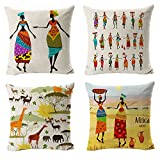 All Smiles Africa Print Pillows Ethnic African