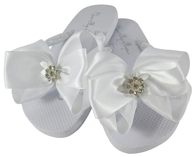 8338a2d3fc7 Amazon.com  White Flat Flower girl