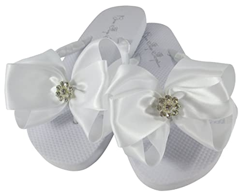 Wedding Flip Flops For Flower Girl Sandals Bride Shoes Bridesmaid
