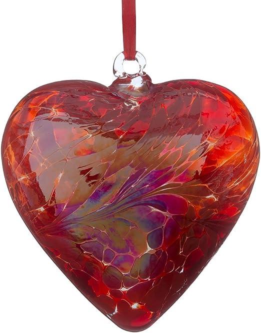Corazón de cristal de amistad 8 cm cristal multicolor por Sienna