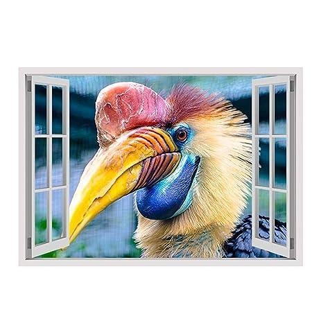 Amazoncom Alonline Art Hornbill Bird Fake D Window VINYL - Bird window stickers amazon