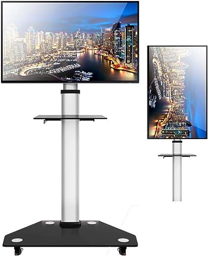 Gpf Soporte de TV móvil con Marco Colgante Pantalla giratoria Horizontal y Vertical Soporte de Piso Giratorio LCD ...