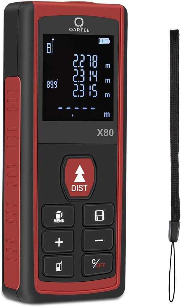 75 opinioni per Qarfee Metro Laser 80M Portable Misuratore di misura digitale Distanza, 4