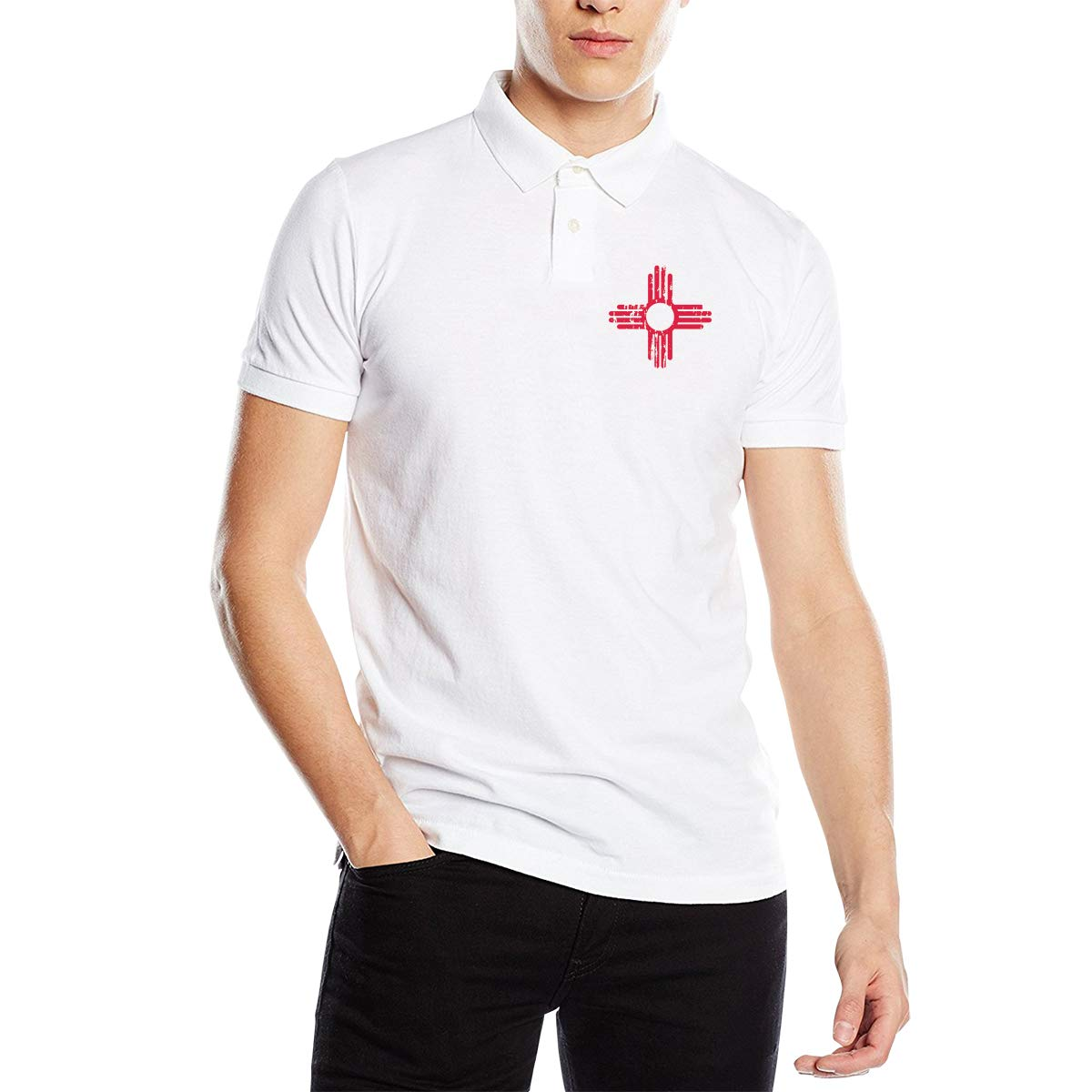 UP LUCK New Mexico Sun Symbol Mens Premium Office Polo Shirt ...