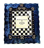 MacKenzie Childs AMAZING HIGHBANKS VELOUR FRENCH BLUE 8''x10'' FRAME BRAND NEW