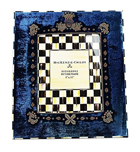 MacKenzie Childs AMAZING HIGHBANKS VELOUR FRENCH BLUE 8''x10'' FRAME BRAND NEW by MacKenzie-Childs