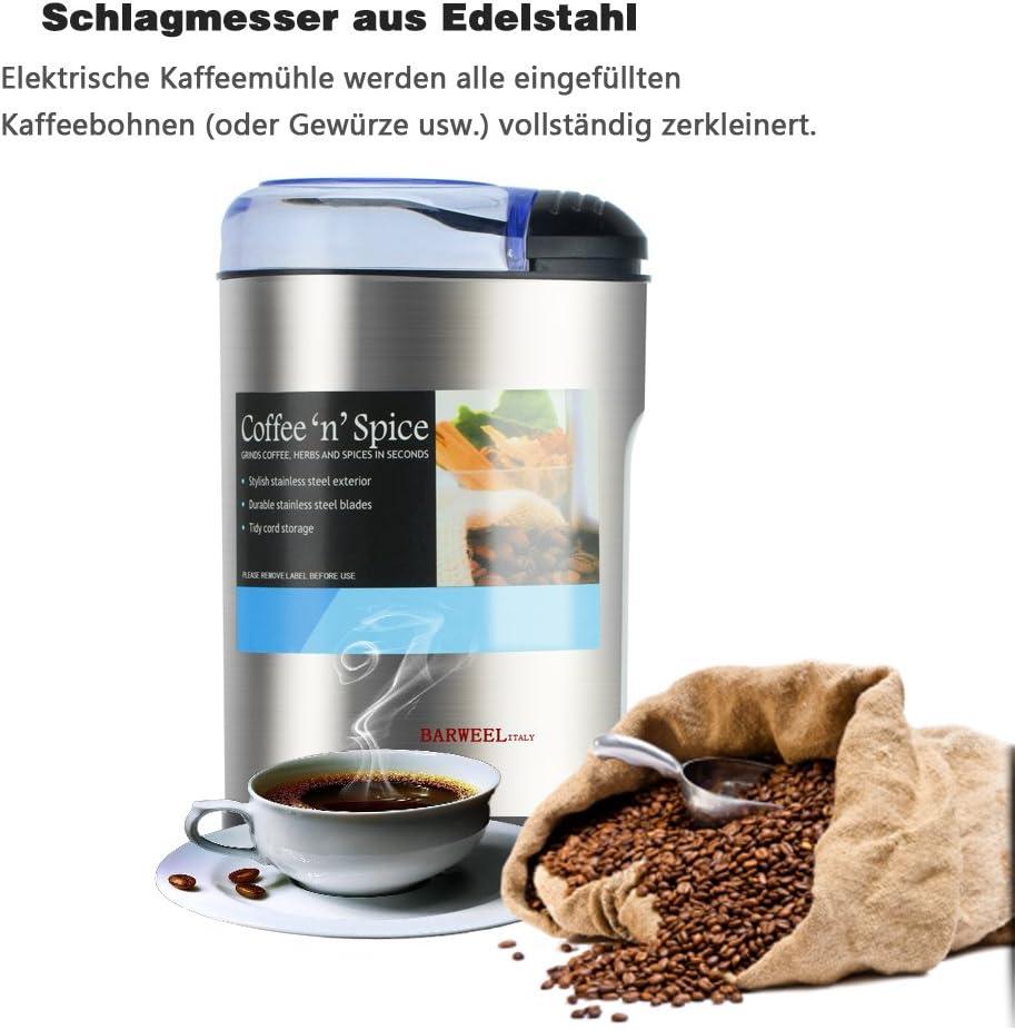 Multifunktionale Elektrische Kaffeemühle Kaffeebohne Gewürz Mahlen Maschine NEU