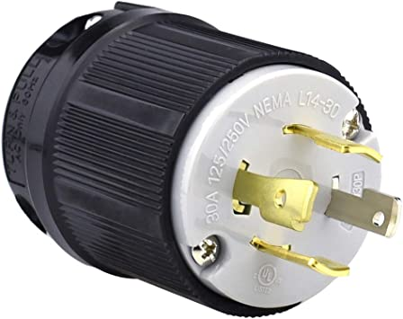 NEMA L14-30P125V-250V 30A  4 Wire Twist Lock Electrical Generator Plug Connector