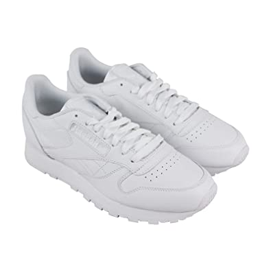 5e90bd461a6 Reebok Classic Leather R12 Mens White Leather Athletic Training Shoes 8