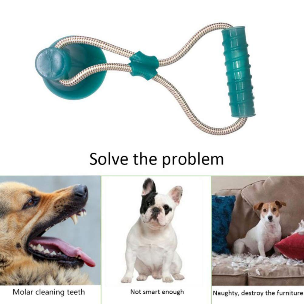 Self-playing Natural Rubber Dog Toothbrush Teeth Cleaning Bite Chew Toys Smilikee Suction Cup Dog Ball Toy