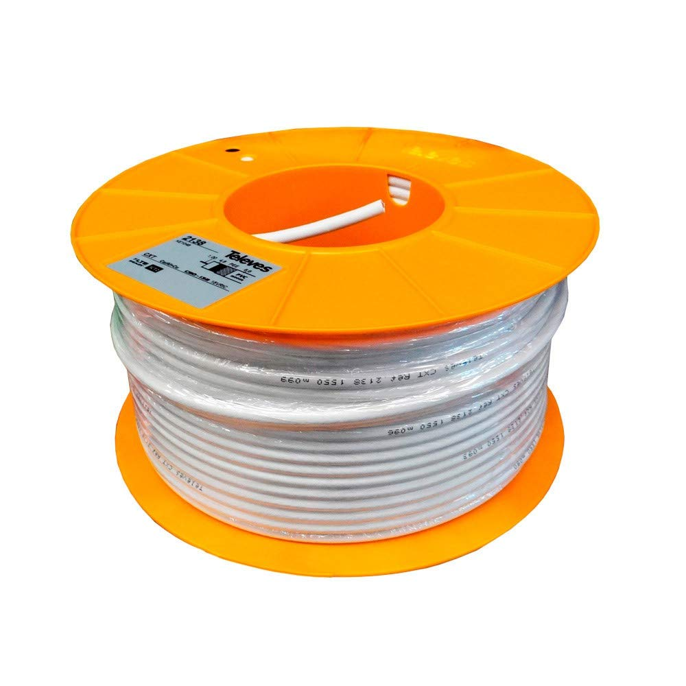 Televes - Cable coaxial cxt cu/cu pvc bl.100m: Amazon.es ...