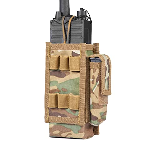 IDOGEAR Tactical Radio Pouch Molle Radio Holder for Walkie Talkies PRC  148/152 Radio Airsoft Military Outdoor Sports 500D Nylon