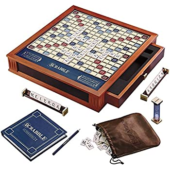 scrabble luxury edition board game toys games. Black Bedroom Furniture Sets. Home Design Ideas