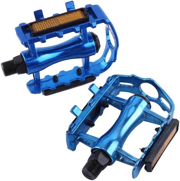 Bleu Rehomy P/édales de V/élo en Alliage Daluminium P/édales de V/élo P/édales de Plate-Forme de V/élo de Montagne 1 Paire