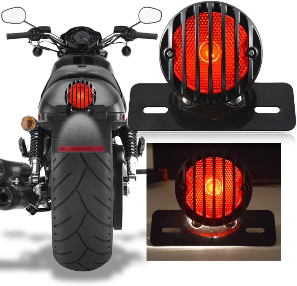 Katur Motorrad Rücklicht Für Harley Bobber Chopper Custom April Ia Mana Schwarz 1 Stück Auto
