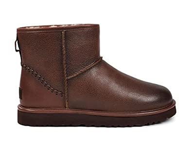 UGG Mens Classic Mini Deco Scotch Grain Boot Cognac Size 9