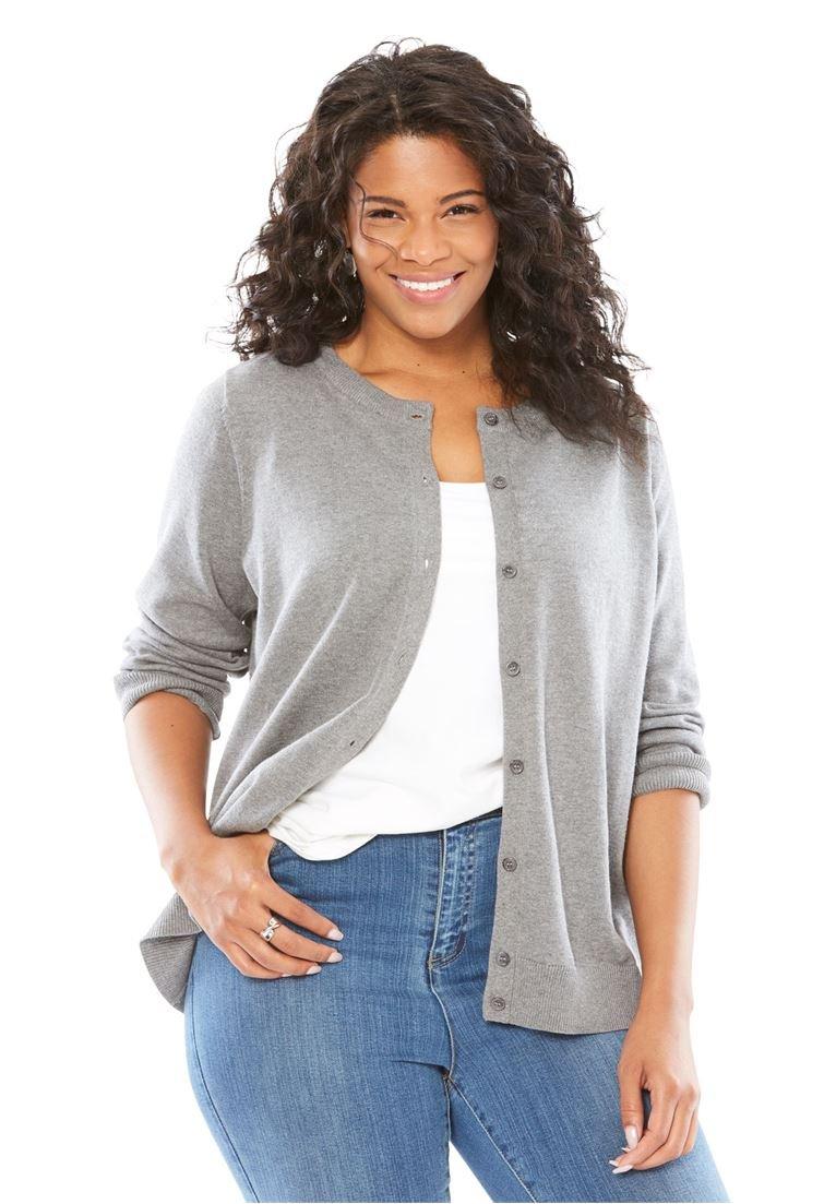 Women's Plus Size Perfect Long Sleeve Cardigan