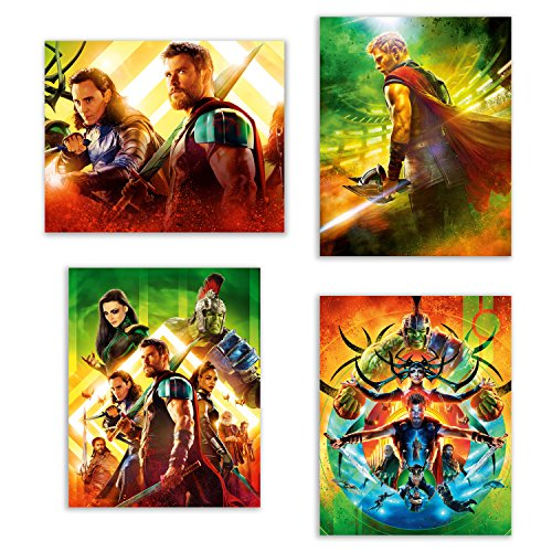 Thor Ragnarok  Poster Prints - Set of Four Marvel Thor and H
