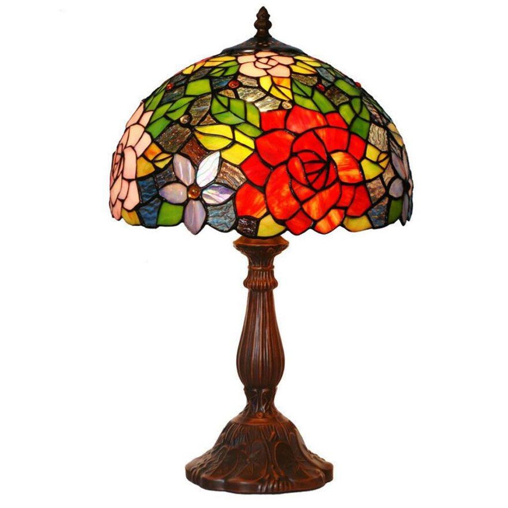 Tischlampe Tischleuchte Retro Pastorale Schlafzimmer Schlafzimmer Schlafzimmer Nachttischlampe rot Rosa Glas Dekorative (größe   30  49cm) B0788LCN6N | Modern Und Elegant In Der Mode  d7a1d7