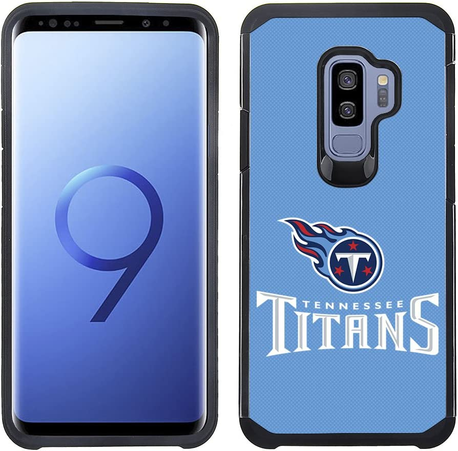 Prime Brands Group Textured Team Color Cell Phone Case for Samsung Galaxy S9 Plus - NFL Licensed Tennessee Titans